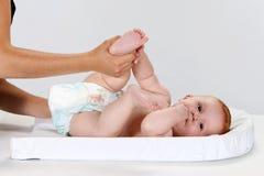 De luier van de baby royalty-vrije stock foto