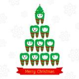 De luim van Kerstmistanden Royalty-vrije Stock Foto
