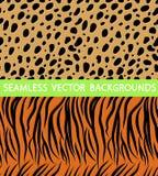 De luipaard van de textuurtijger royalty-vrije illustratie