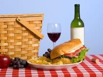 De Lunch van de picknick Royalty-vrije Stock Afbeeldingen