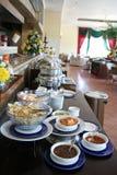 De lunch van het buffet bij restaurant Royalty-vrije Stock Foto's