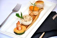 De lunch van het restaurant Stock Afbeeldingen