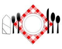 De lunch van objecten Stock Afbeeldingen