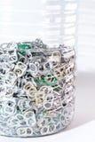 De lusjes van de aluminiumtrekkracht in fles royalty-vrije stock fotografie