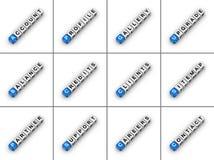 De Lusjes van de website Stock Afbeelding