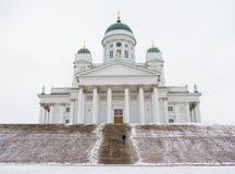 De Lutheran Kathedraal in Helsinki Stock Foto's