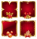 De luxe gouden frames van Kerstmis & van het nieuwe jaar Royalty-vrije Stock Foto