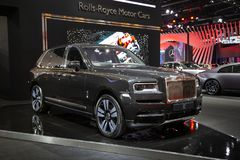 De luxe SUV van broodjesroyce cullinan royalty-vrije stock fotografie