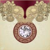 De luxeachtergrond van de diamant Royalty-vrije Stock Afbeeldingen