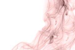 De luxepastelkleur nam de rook van de kwartskleur op witte achtergrond toe Stock Afbeelding