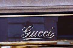 De luxewinkel van Gucci Stock Foto's