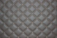 De luxueuze grijze textuur van het leermeubilair, diamanttextuur, ruit stock afbeelding