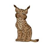 De lynx van de beeldverhaalkarikatuur Royalty-vrije Stock Foto's