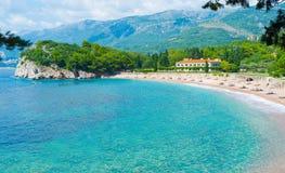 De lyxiga semesterorterna av Montenegro Royaltyfri Fotografi