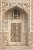 De mármore embutido no túmulo islâmico imagens de stock