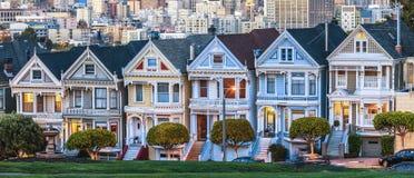 De målade damerna av San Francisco royaltyfri foto