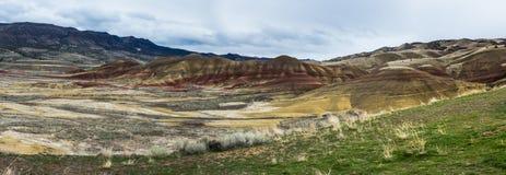 De målade kullarna Arkivbild