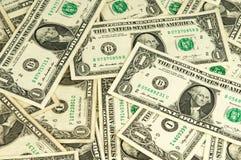 De många dollarna pengar Arkivfoto
