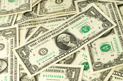 De många dollarna pengar Arkivbild