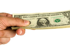 De många dollarna pengar Arkivbilder