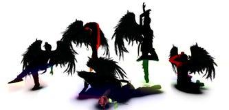 De mörka sjöjungfruarna vektor illustrationer