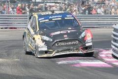 De m-Sport van Ford Fiesta ST door #00 Steve Arpin wordt gedreven dat Stock Foto