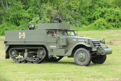De M3A1 Verkenner Car van het Museum van Amerikaans Pantser tijdens Wereldoorlog IIkamp Royalty-vrije Stock Foto