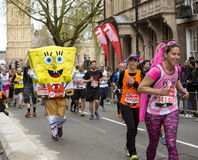 De maagdelijke Marathon van Geldlonden, 24 April 2016 Stock Afbeelding