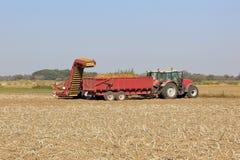 De maaimachine van de aardappel royalty-vrije stock foto