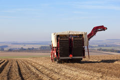 De maaimachine van de aardappel stock afbeelding