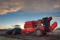De maaimachine van de aardappel Stock Fotografie