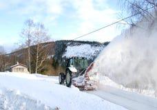 De maaimachine van de sneeuw Stock Afbeeldingen