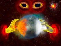 De Maalmachine van de planeet Stock Illustratie