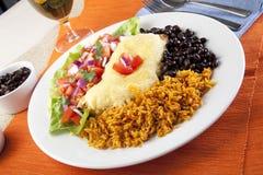 De Maaltijd van Burrito stock fotografie