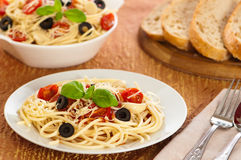 De Maaltijd van de Deegwaren van de spaghetti Royalty-vrije Stock Afbeeldingen