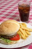 De Maaltijd van de hamburger Royalty-vrije Stock Fotografie