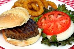 De Maaltijd van de hamburger Stock Afbeeldingen