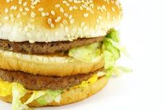 De Maaltijd van de Hamburger van het snelle Voedsel stock foto's