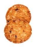 De maaltijd van de koekjeshaver met aardbei. Stock Foto