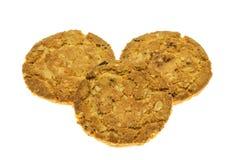 De maaltijd van de koekjeshaver met aardbei. Stock Afbeeldingen