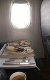 De maaltijd van de luchtvaartlijn Stock Foto