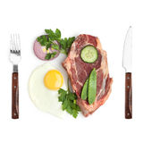 Zie uw voedsel onder ogen. Stock Afbeelding