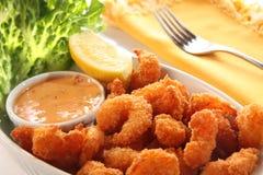 De maaltijd van garnalen. Stock Afbeelding