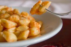 De maaltijd van Gnocchi Royalty-vrije Stock Afbeeldingen