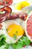 De Maaltijd van het Bacon van het ei Royalty-vrije Stock Foto's