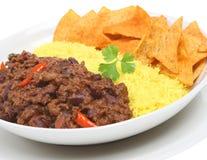 De Maaltijd van het chili con carne Stock Afbeelding