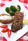 De Maaltijd van het lapje vlees royalty-vrije stock afbeeldingen