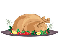 De maaltijd van Kerstmisturkije Stock Foto