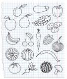 De maaltijd van pictogrammen Stock Afbeelding