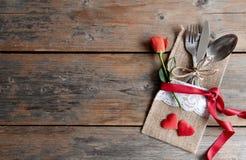De maaltijdachtergrond van de valentijnskaartendag Royalty-vrije Stock Afbeelding